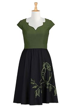 The neckline on this dress from eShakti!  I need to learn how to make that.  Gorgeous! (They have lots of cute stuff.)