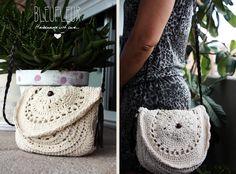 Bolso realizado en algodón rústico