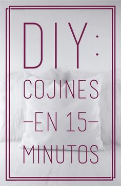 Easy sewing: Cushions in 15 minutes. House Quilt Patterns, House Quilts, Easy Sewing Projects, Sewing Tutorials, Sewing Clothes, Diy Clothes, Custom Closets, Sewing Material, Design Blog