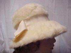 vintage cloche hat for a winter bride