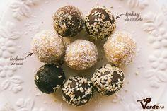 Gust Verde: RAW VEGAN: Bomboane delicioase de caju si cocos (fara zahar) Vegan Chocolate, Raw Vegan, Breakfast, Cakes, Morning Coffee, Cake Makers, Kuchen, Cake, Pastries