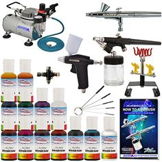 Master Pro Airbrush Cake Decorating Set with 12 AmeriMist Airbrush Cake color set that are FDA approved - 3 Airbrush Kit - TC20 Compressor - Air Filter/Regulator - 3-6' Air Hose -Multi-Airbrush Holder - Master G25 Gravity Feed Dual Action Master Airbrushes and Master G70 and E91 Suction Master Feed Airbrushes and a (FREE) How to Airbrush Instructional Guidebook and (FREE) Additional Pearlescent Sheen Color