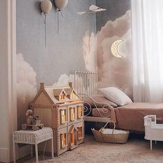 Stylish & Chic Kids Room Decorating Ideas - for Girls & .- Stylish & Chic Kids Room Decorating Ideas – for Girls & Boys Eye-opening kids room paint ideas //kids room curtains - Baby Bedroom, Nursery Room, Bedroom Decor, Bedroom Kids, Nursery Ideas, Kid Bedrooms, Childs Bedroom, Room Baby, Girl Nursery