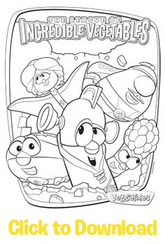 Activities The League Of Incredible Vegetables Free Download Coloring Pages At