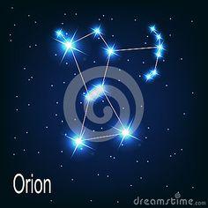 L étoile d Orion de constellation dans le ciel nocturne.