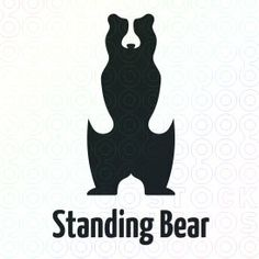 A place for graphic designers to discuss work and life. Typographie Logo, Bear Graphic, Logo Sign, Bear Logo, Great Logos, Bear Art, Logo Maker, Animal Logo, Negative Space