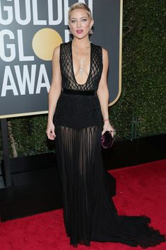 All the Glamorous 2018 Golden Globes Red Carpet Arrivals - Kate Hudson from InStyle.com