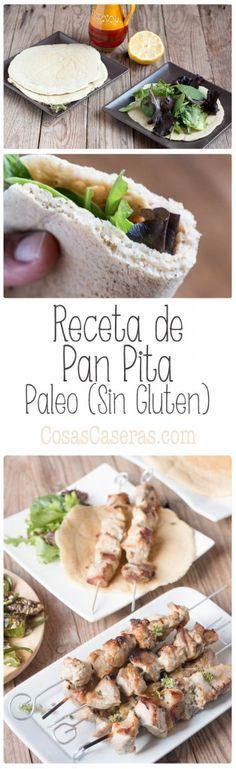 If you're looking for the perfect paleo pita for your gyros, souvlaki, kebabs, or sandwich or salad wraps, this is the perfect easy and quick recipe. Comidas Paleo, Desayuno Paleo, Dieta Paleo, Pita Recipes, Gluten Free Recipes, Real Food Recipes, Vegan Recipes, Cooking Recipes, Beef Recipes