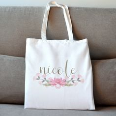 Your place to buy and sell all things handmade Bridesmaids, Reusable Tote Bags, Flower, Trending Outfits, Unique Jewelry, Handmade Gifts, Illustration, Etsy, Kid Craft Gifts