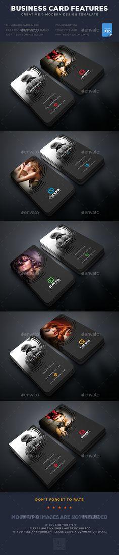 Photography Business Card  — PSD Template #colors #black #bundle #landscape…