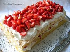 Mansikka Brita - TaikinaTaivas - Vuodatus.net Food N, Good Food, Food And Drink, Pie Recipes, Lunch Recipes, Mumbai Street Food, Different Cakes, My Best Recipe, Cheesecake
