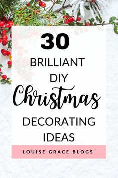 Are you looking to save some money this Christmas? If so, I have put together 30 of the best DIY Christmas decoration ideas to help you out. DIY Christmas | Christmas | Christmas decorations | DIY Christmas decorations | DIY decorations | Christmas decor | Christmas inspiration | Save money at Christmas | Xmas | Xmas decorations | Mason jar Christmas Mason Jars, Diy Christmas Gifts, Christmas Treats, Christmas Christmas, All Things Christmas, Christmas Recipes, Holiday Crafts, Holiday Recipes, Christmas Ornaments