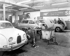 Saab garage