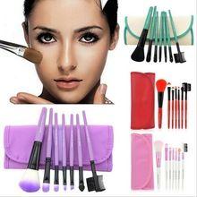 7 unids/set cosmético profesional del maquillaje suave cepillo se ruboriza cepillo + 1 x bolsa bolso de la caja(China (Mainland))