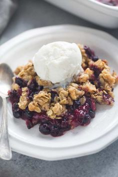 Triple Berry Crisp | Tastes Better From Scratch