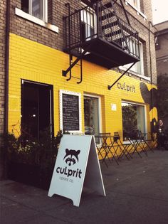 It's hard to miss the brick wall painted bright yellow with the huge raccoon on the side. Culprit is one of the few cafes in the city with coffee from Victoria's Fernwood Coffee and all the food prepared in their kitchen is gluten free.
