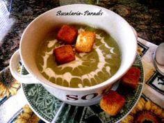Supa crema de broccoli Romanian Food, Romanian Recipes, Supe, Kefir, Bacon, Pudding, Desserts, Salads, Essen