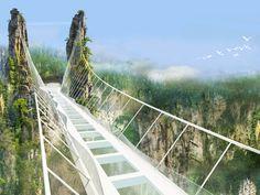 中国湖南省で10月にオープン予定の「張家界玻璃橋」は、全長380mと、世界でいちばん長いガラスの歩行者専用橋になる。地上約400mの高さに浮かんだその橋は、ほとんど雲の一部のようだ。
