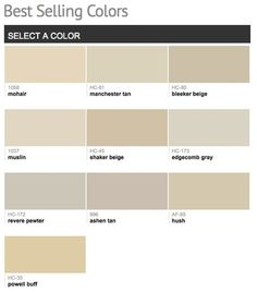 Best selling & popular paint colors from Benjamin Moore.