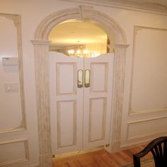 Painted White Swinging Café Doors for Kitchen Entry available in ...