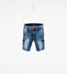 Bermuda shorts with zips