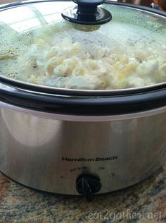 Crock Pot Chicken Alfredo for a crowd (25+ people)