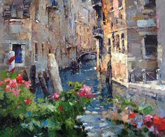 Cafe on the canal of San Felice     Alexi Zaitsev
