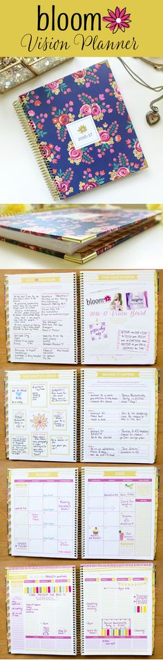 bloom daily planner's brand new 2016-17 Hard Cover Vision Planner is designed to help you make all of your dreams and visions for this year become a reality! This unique, guided planning style has helped thousands of women maintain a more balanced, fulfilling lifestyle!