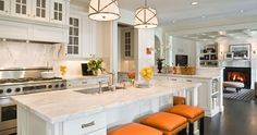 Kitchen and Design inspiration with an orange twist by Graciela Rutkowski on REstyleSOURCE