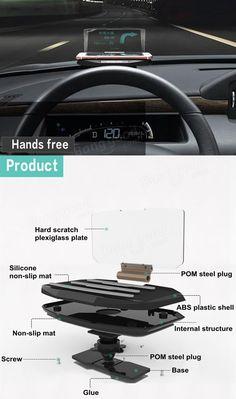 Car GPS Phone HUD Mobile Navigation Bracket Head Up Display HUD Projection Holder