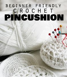 New to crochet? Try this easy crochet pin cushion to get used to following a pattern.
