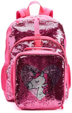 43cba9ae5ae3 Kids Flippable Sequin Backpack   Lunch Bag Set