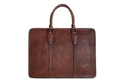Image of Handmade Vintage Full Grain Leather Briefcase, Laptop Bag, Men's Handbag NZ02