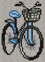 grille de point de croix gratuite - Vélo