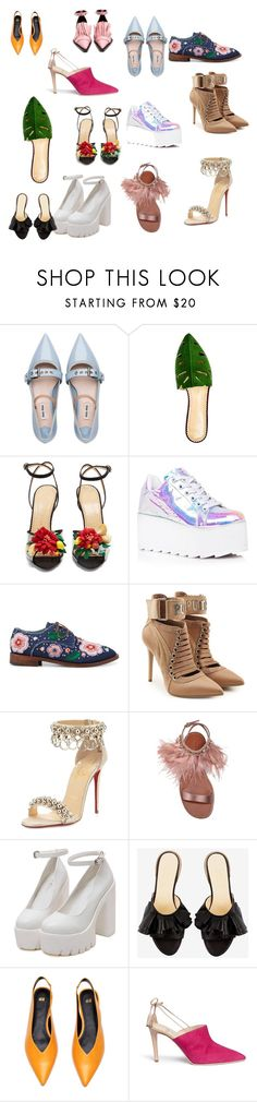 """""""Ugly shoes"""" by percabeth0712 on Polyvore featuring Miu Miu, Charlotte Olympia, Y.R.U., Anouki, Puma, Christian Louboutin, Alexander White and Marques'Almeida"""