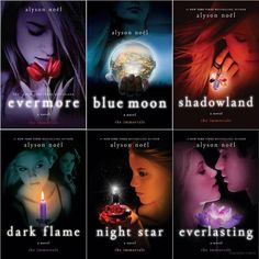 The Immortal Series by Alyson Nöel Loved this series!!!! Haven't read it in awhile and those I don't really read Sci-fi books this very a very good series. Especially with the whole destined to be together for eternity in all their past lives and being immortal. You will really like this series. More than a 5 star read