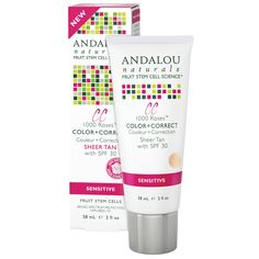 online herb store  make up discount coupon code:JWH658,$10 OFF iHerb Andalou Naturals, CC Moisturizing Color + Correct, Sheer Tan with SPF 30, Sensitive, 2 fl oz (58 ml)