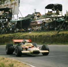 Jochen Rindt in a Lotus 49