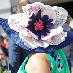A floral Kentucky Derby hat with blue, white and pink. Kentucky Derby Hats, Photo And Video, Floral, Pink, Blue, Instagram, Flowers, Pink Hair, Flower