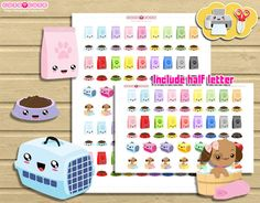 Puppy Pet and Vet Planner Stickers,