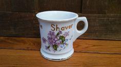 Vintage A Lil Shaver Flower Porcelain Shaving Mug by maliasmark on Etsy