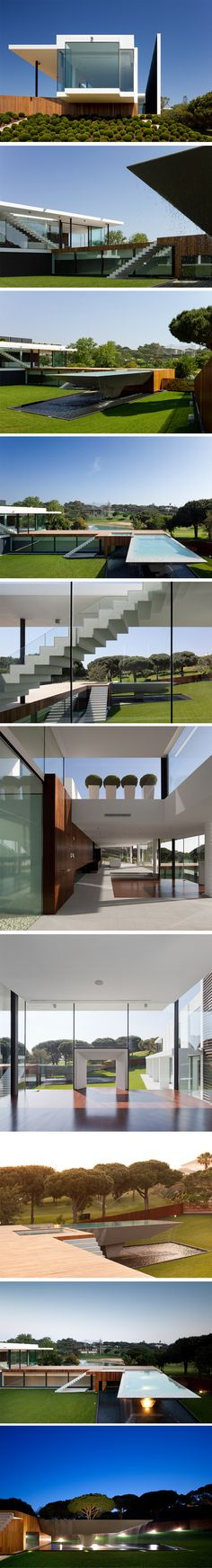Casa Vale Do Lobo by Arqui+Arquitectura, Portugal///////www.bedreakustik.dk/home DISCOUNT TO PINTEREST CUSTOMERS Dedicated to deliver superior interior acoustic experience.#pinoftheday///////