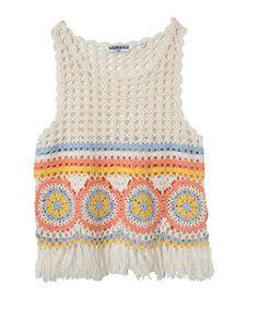 crochet cropped top pattern - Pesquisa Google