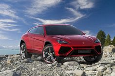 Lamborghini Urus SUV.  This is ridiculously good looking.