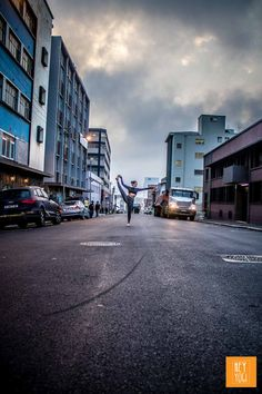 Justine Barnes captured by HEY YOGI in CBD Cape Town, South Africa.