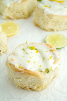 Lemon-Lime Sweet Rolls that are super-fluffy and delicious!
