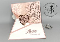 Fancy Fold Cards, Folded Cards, Pop Up Card Templates, Hand Stamped Cards, Valentine Day Cards, Valentines, Queen B, Pop Up Cards, Card Tutorials