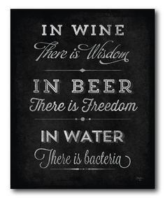 'In Wine There Is Wisdom' Canvas