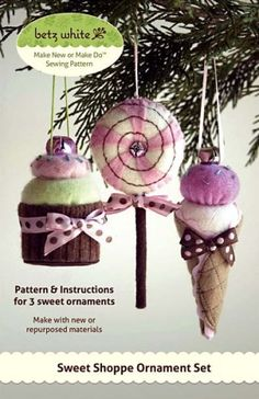 Sweet Shoppe Ornament Set | YouCanMakeThis.com