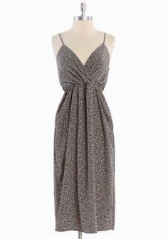 Wind Drift floral midi dress